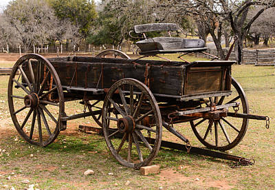 Photograph - Wooden Cart by John Johnson