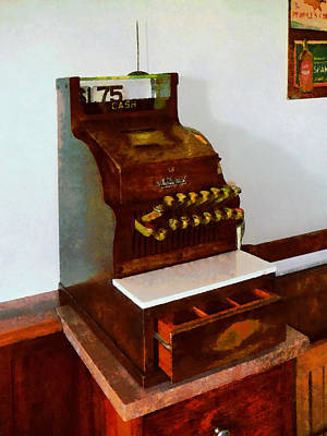 Photograph - Wooden Cash Register by Susan Savad
