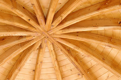 Wooden Ceiling  Art Print by Ioan Panaite