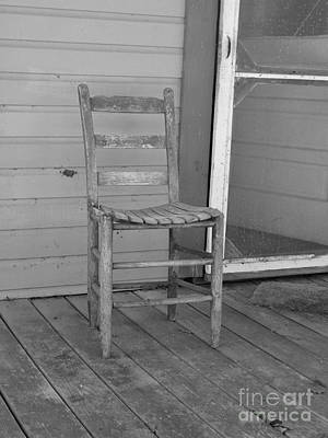 Photograph - Wooden Chair Black And White by D Hackett