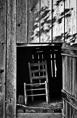 Photograph - Wooden Chair In Loft by Greg Jackson