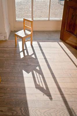 Miniature Photograph - Wooden Chair by Tom Gowanlock