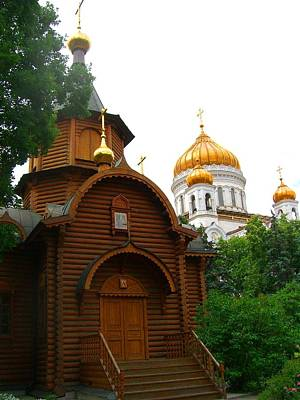 Photograph - Wooden Church by Julia Ivanovna Willhite