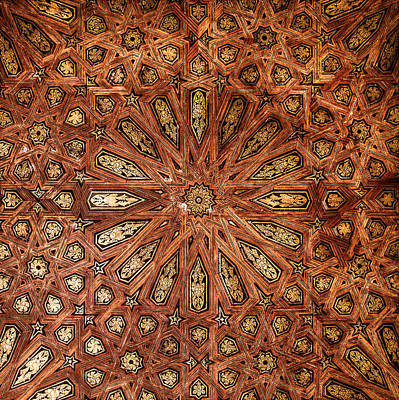 Photograph - Wooden Coffered Ceiling In The Alhambra by Weston Westmoreland