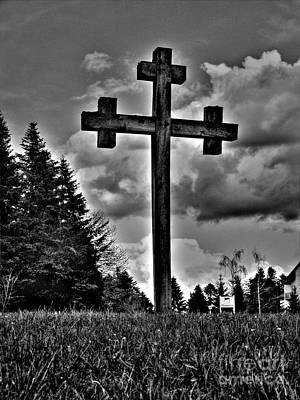 Photograph - Wooden Cross by Nina Ficur Feenan