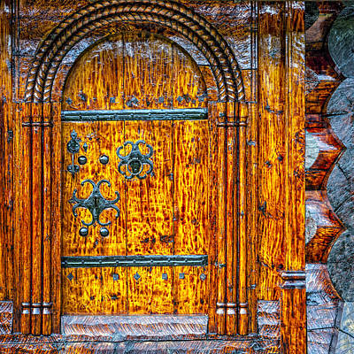 Lacquer Photograph - Wooden Door by Alexey Stiop