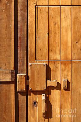 Rustic Scenes Photograph - Wooden Door Detail by Carlos Caetano