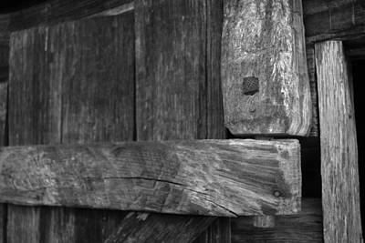 Photograph - Wooden Door Hinge by George Taylor