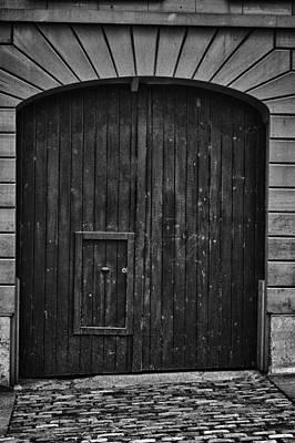 Wooden Doors In Historic Montreal Original by Joel  Bourgoin