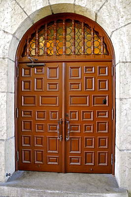 Photograph - Wooden Doorway In Santa Barbara Courthouse by Kirsten Giving