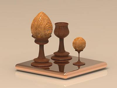 Wine Digital Art - Wooden Egg by Hakon Soreide