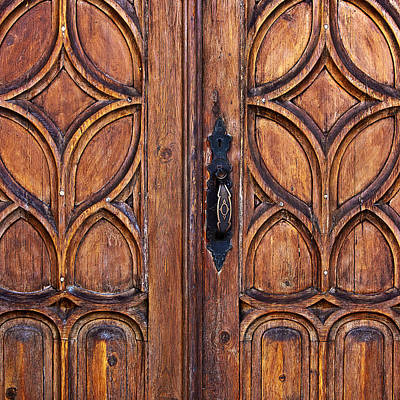 Artisan Handcrafted Photograph - Wooden Entrance by Art Block Collections