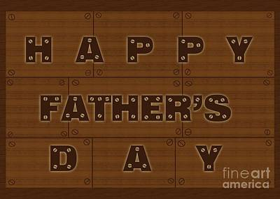 Digital Art - Wooden Father's Day by JH Designs