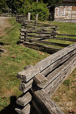 Snug Digital Art - Wooden Fence by Carol Ailles