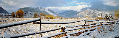 Wooden Fence Covered With Snow Art Print by Panoramic Images