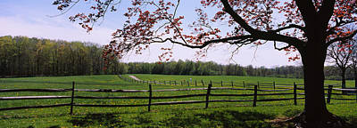 Wooden Fence In A Farm, Knox Farm State Art Print by Panoramic Images