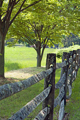 Woden Wall Art - Photograph - Wooden Fence by Katina Borges
