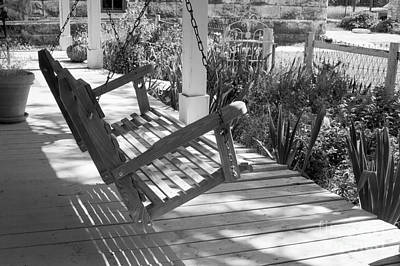 Photograph - Wooden Front Porch Swing by Imagery by Charly
