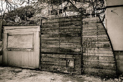 Photograph - Wooden Gates by Melinda Ledsome