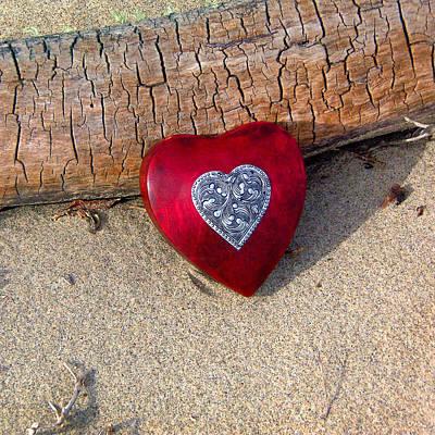 Wooden Heart Art Print by Art Block Collections