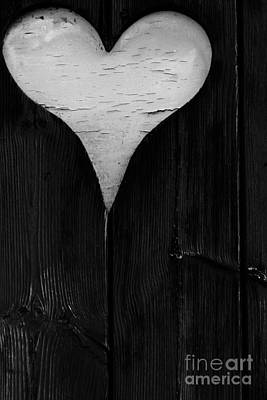 Photograph - Wooden Heart by Wendy Wilton