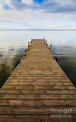 Photograph - Wooden Jetty Perspective by Peter Noyce