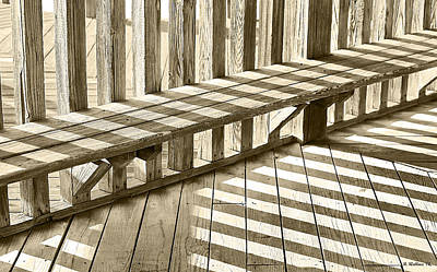 Wooden Platform Photograph - Wooden Lines - Semi Abstract by Brian Wallace