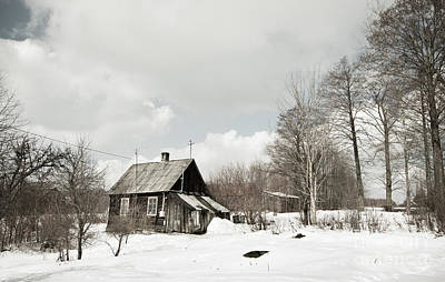 1-war Is Hell Royalty Free Images - Dilapidated Wooden House Cottage In Winter  Royalty-Free Image by Arletta Cwalina