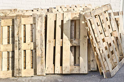 Packaging Photograph - Wooden Pallets by Tom Gowanlock