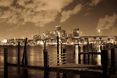 Photograph - Wooden Pier In Miami  by Celso Diniz
