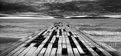 Wooden Pier Print by Shawn Hempel
