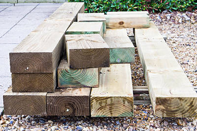 Wooden Planks Art Print by Tom Gowanlock