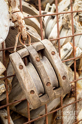 Photograph - Wooden Pulley by Imagery by Charly