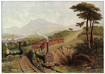 Wooden-railed Railway Art Print by Cci Archives