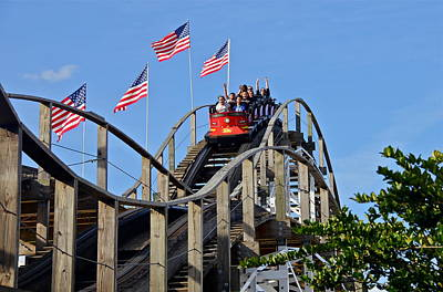 Photograph - Wooden Roller Coaster by Denise Mazzocco