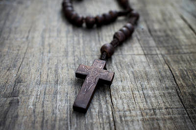 Rosaries Photograph - Wooden Rosary by Aged Pixel