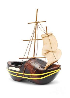 Travel - Wooden shoe boat by Cristian M Vela