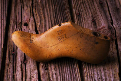 Photograph - Wooden Shoe Form by Garry Gay