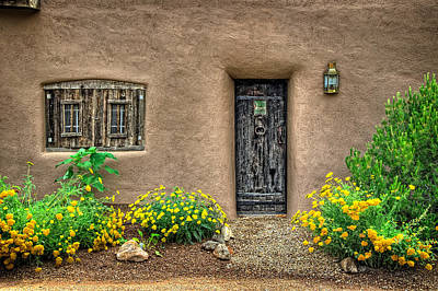 Photograph - Wooden Shutters And Wooden Door by Ken Smith