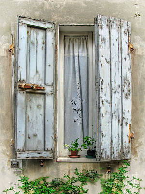 Wooden Shutters In Urbino Art Print