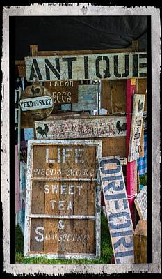 Farmstand Photograph - Wooden Signs by Sherman Perry