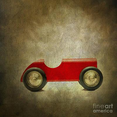 Model Car Photograph - Wooden Toy Car by Bernard Jaubert