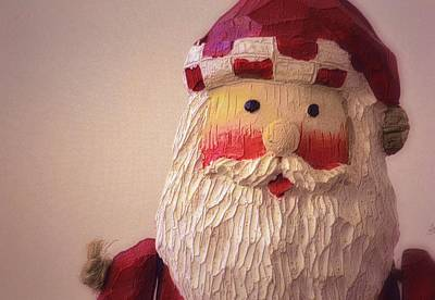 Photograph - Wooden Toy Santa by Nadalyn Larsen