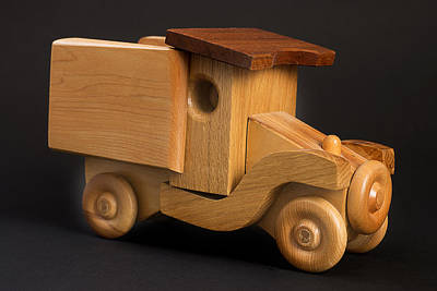 Toy Truck Photograph - Wooden Toy Truck by Donald  Erickson