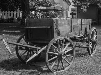 Photograph - Wooden Wagon by Robert Hebert