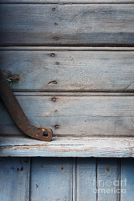 Photograph - Wooden Wall In Blue by Agnieszka Kubica