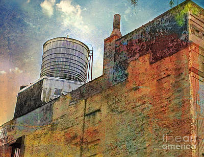 Wooden Water Tower New York City Roof Top Art Print