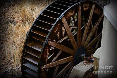 Wooden Water Wheel Art Print by Paul Ward