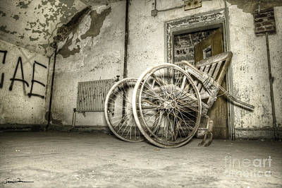 Traci Law Photograph - Wooden Wheelchair by Traci Law