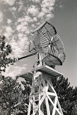 Photograph - Wooden Windmill by HW Kateley